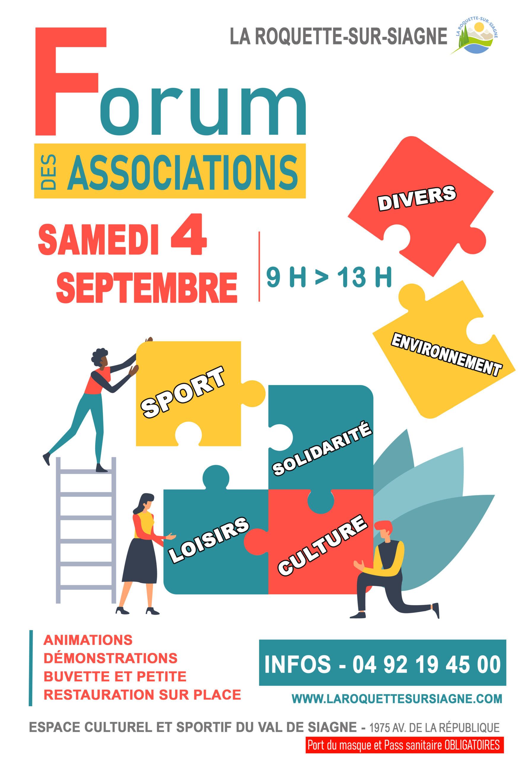 Forum des associations – La Roquette sur Siagne